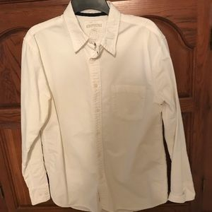 Aero Boys Med off white button up shirt